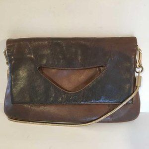 Alexis Hudson convertible bag tan to brown leather